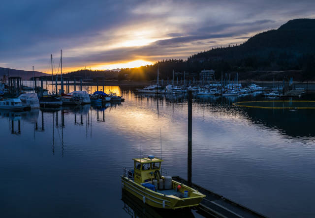 Best time to see Auke Bay Winter Sunset in Alaska
