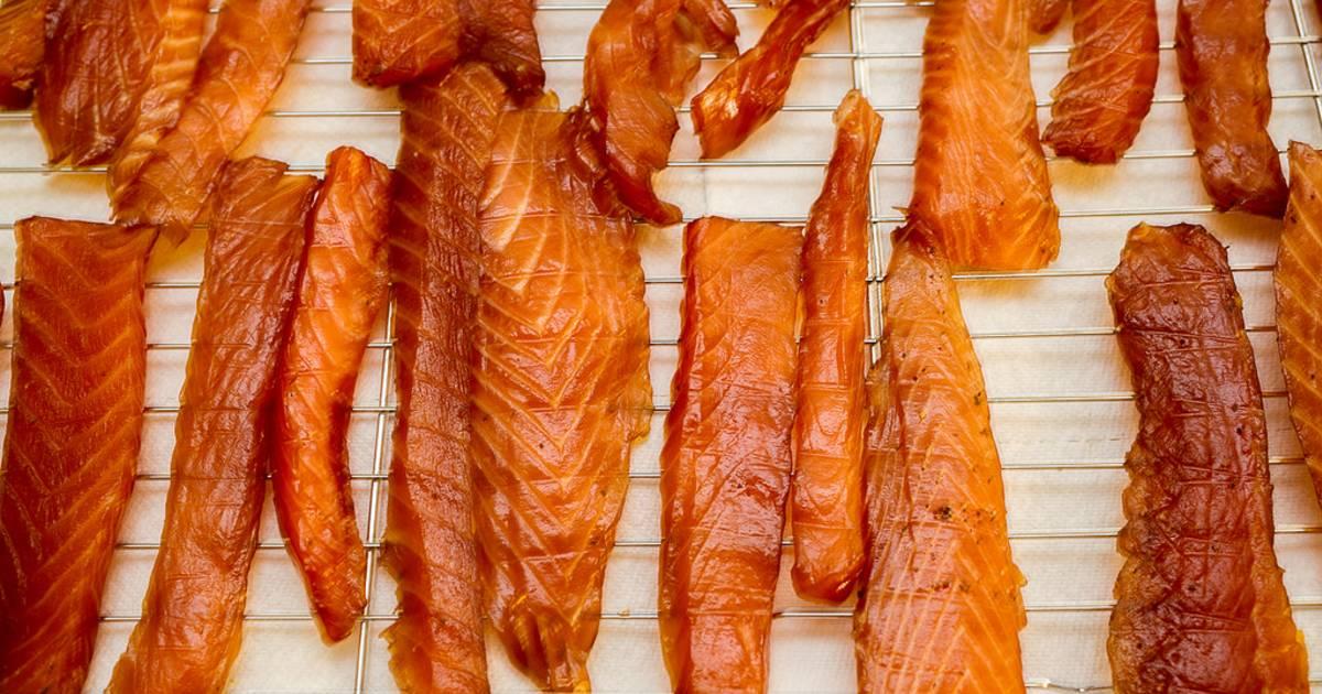 Cured Salmon Strips in Alaska - Best Time