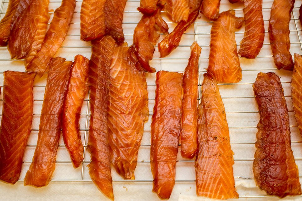 Cured Salmon Strips in Alaska - Best Time