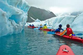 Kayaking among the Kenai Fjords