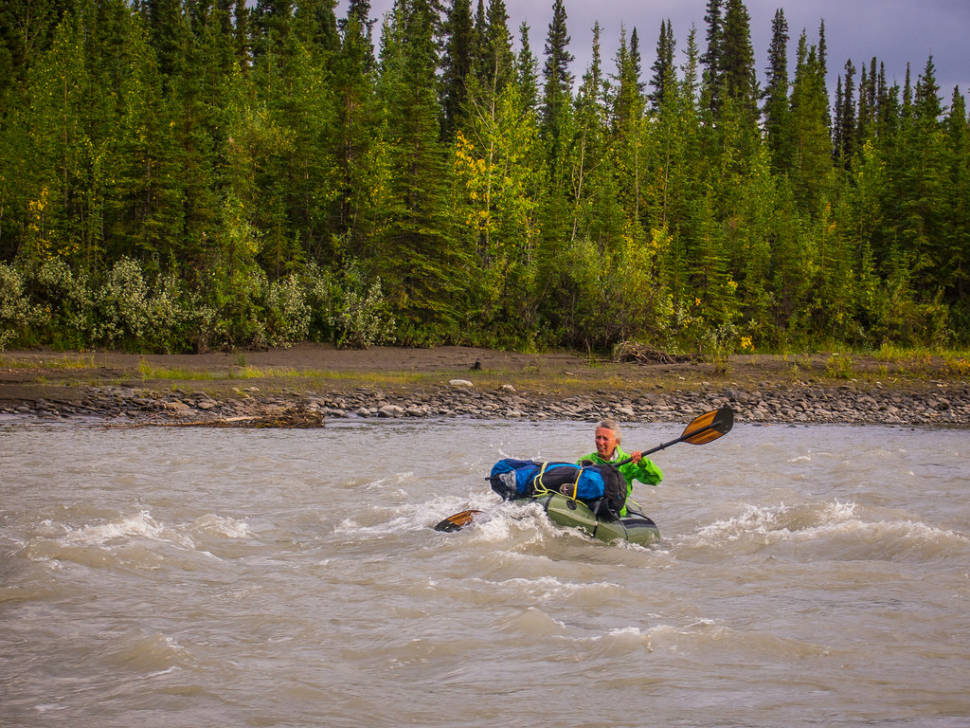 Packrafting the Teklanika River