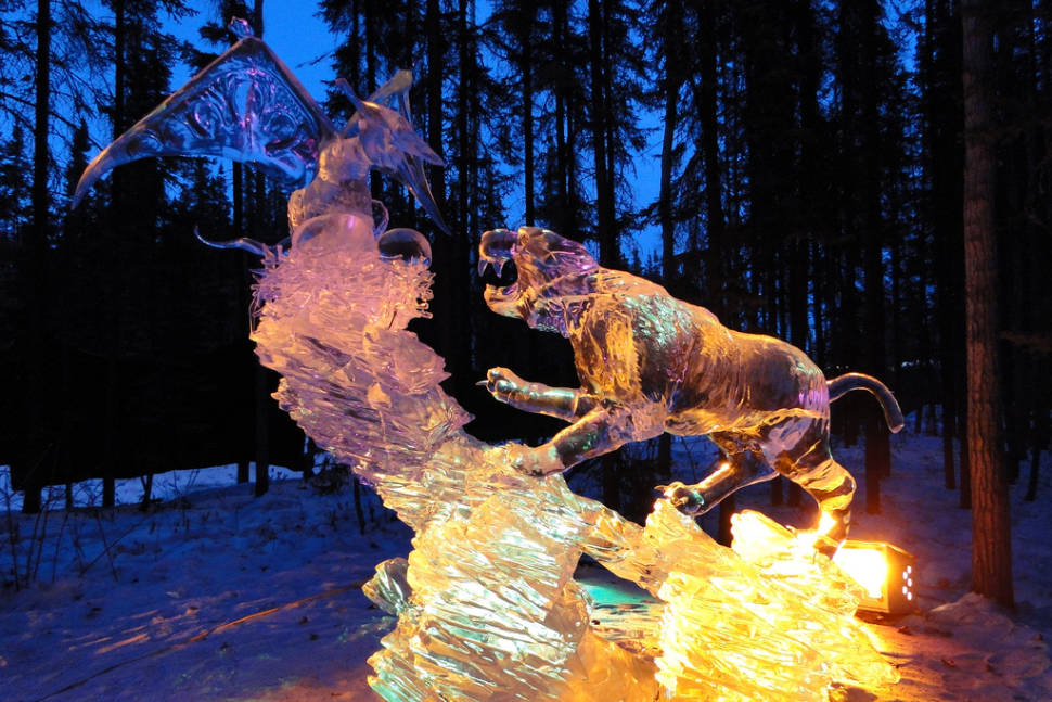 Wo​rld Ice Art Championships in Alaska - Best Time