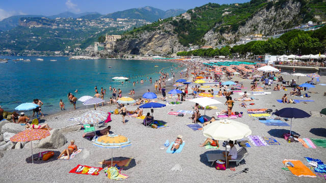 Best time for Beach Season on the Amalfi Coast in Amalfi Coast