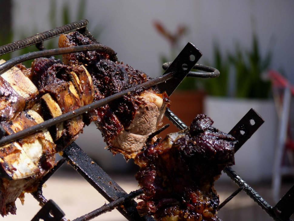Asado or roasted lamb