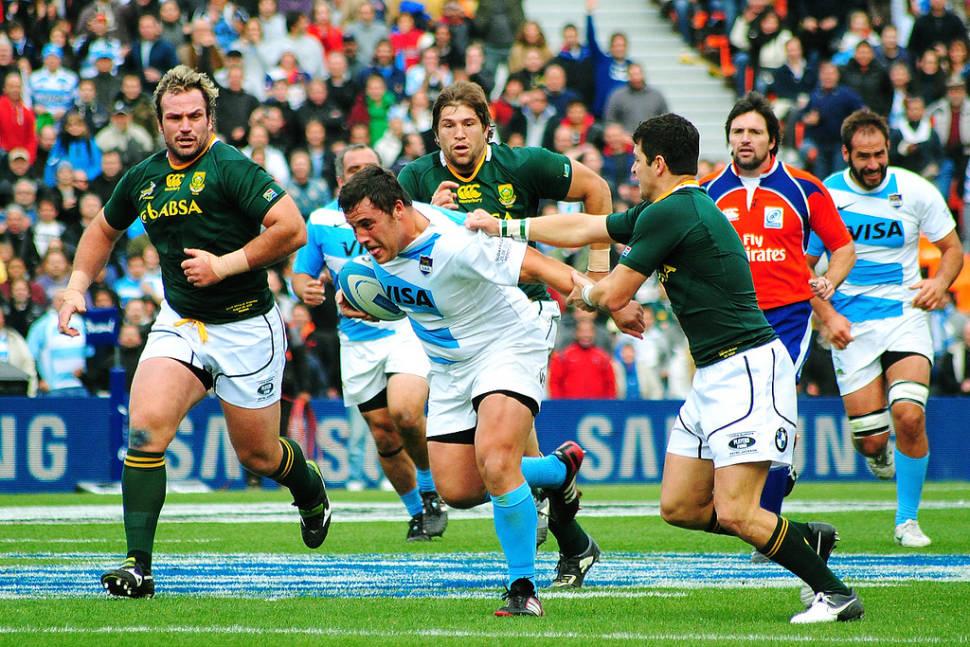 Pumas vs South Africa in Mendoza, Argentina.