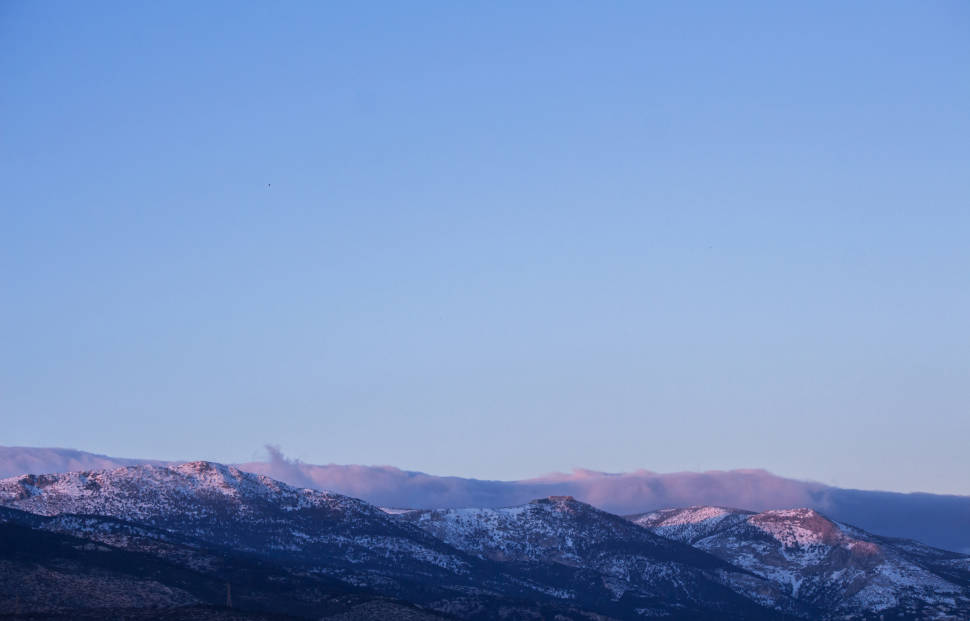 Snowy mount Parnitha