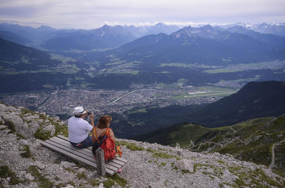 Hafelekar view over Innsbruck