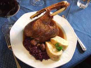 Goose with Blaukraut and Bread Dumpling (Serviettenknödel)
