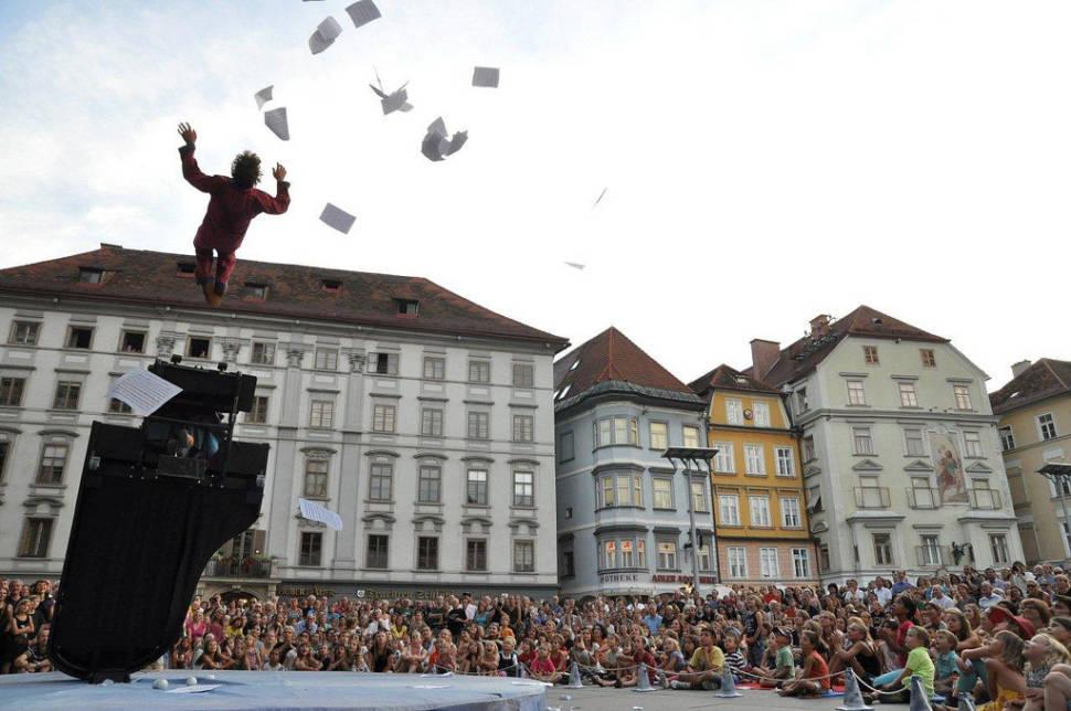Best time for La Strada Street Theatre Festival in Austria