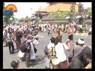 Perang Tipat Bantal or Rice Cake Wars