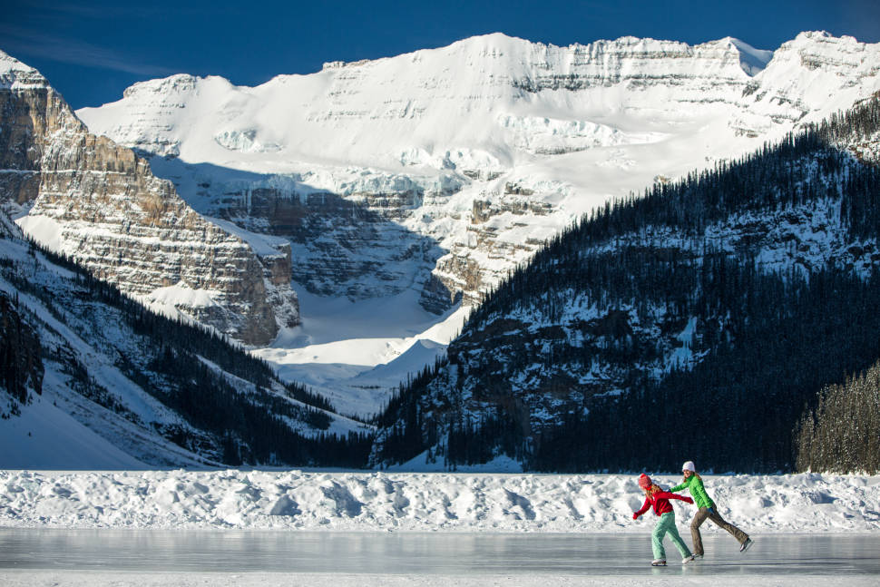 Best time for Skating on Lake Louise in Banff & Jasper National Parks