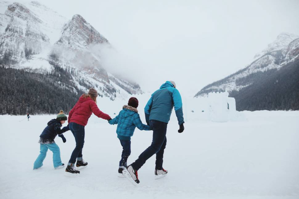 Skating on Lake Louise in Banff & Jasper National Parks - Best Season