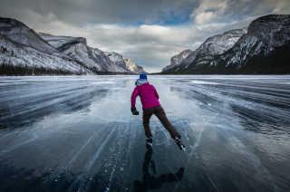 Skating on Lake Louise