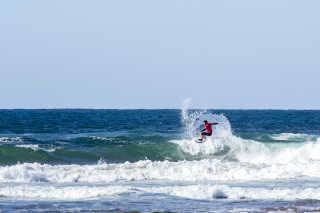 Surfing in Zarautz