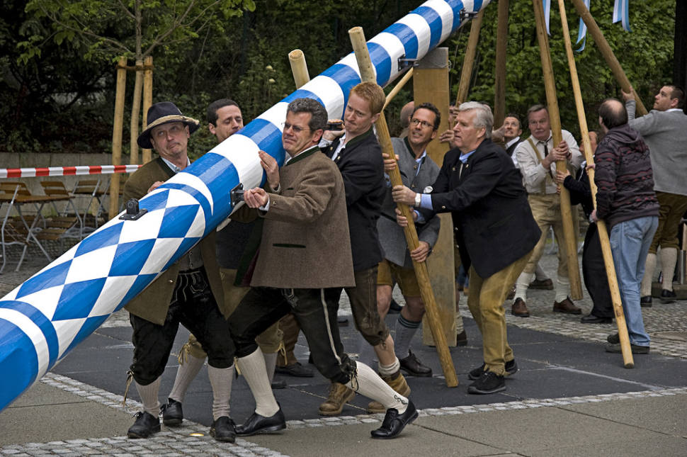 Best time for Maibaumaufstellen (May Day Festival) in Bavaria
