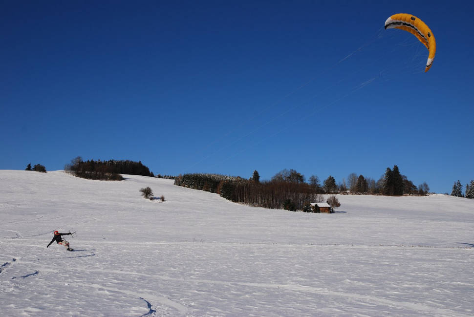 Snowkiting in Bavaria - Best Season