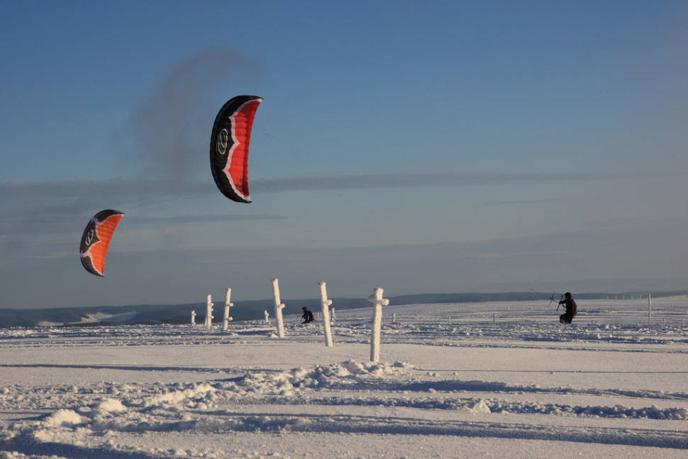 Best time for Snowkiting