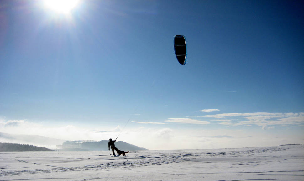 Snowkiting in Bavaria - Best Time