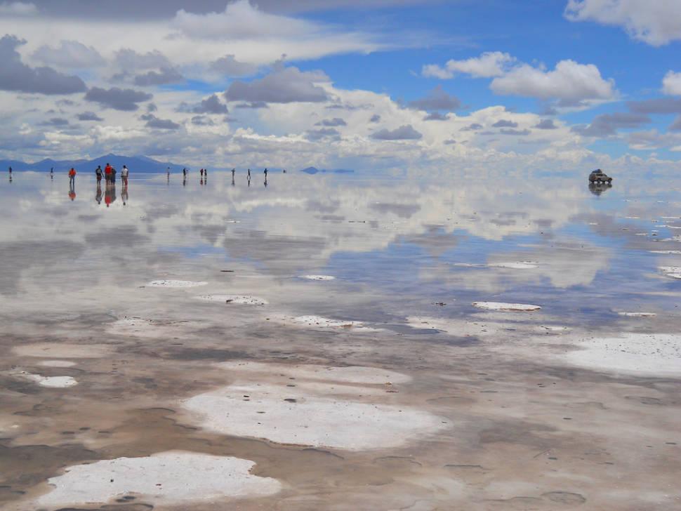Best time to see Lake at Salt Flats or Salar de Uyuni in Bolivia