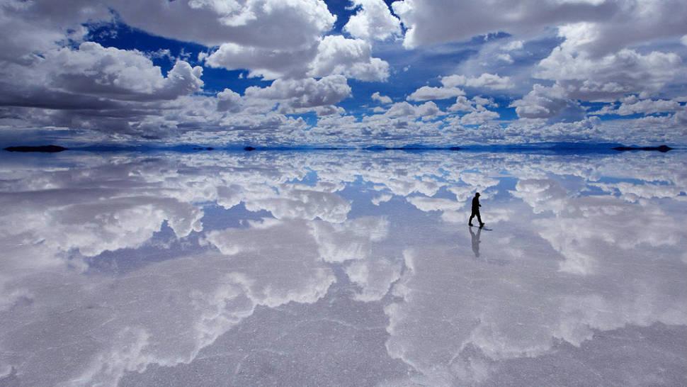 Lake at Salt Flats or Salar de Uyuni in Bolivia - Best Time