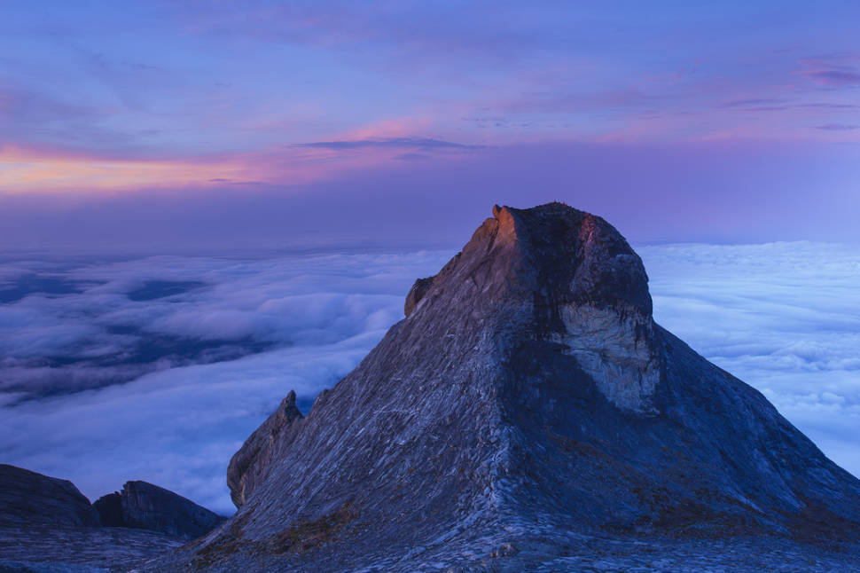 One way to define a stunning view is seeing this at sunrise, on the top of mount Kinabalu