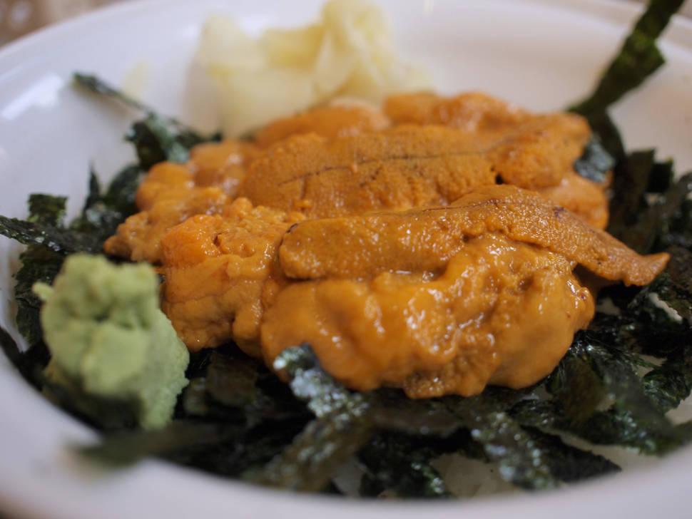 Sea urchin on rice (Uni Don)