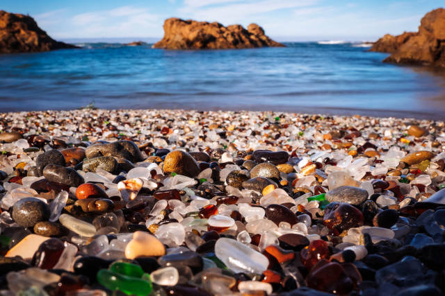 Glass Beach in California - Best Time