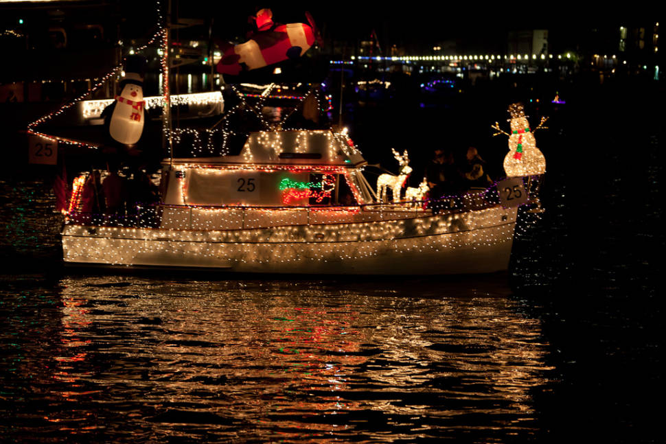 Best time to see Marina del Rey Holiday Boat Parade in California