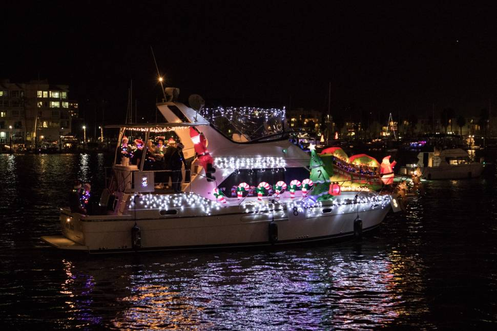 Best time for Marina del Rey Holiday Boat Parade in California