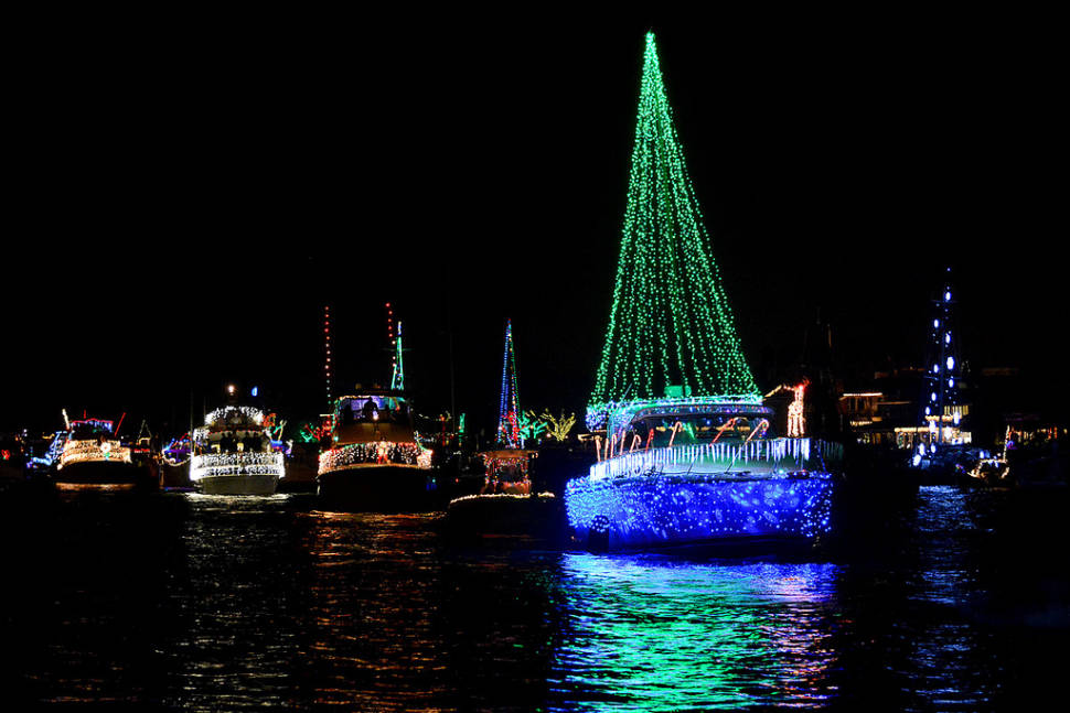 newport beach christmas boat parade in california best time