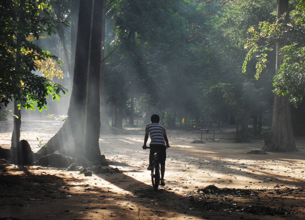 Cycling in Angkor Wat area