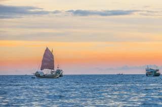 Sailing in Cambodia