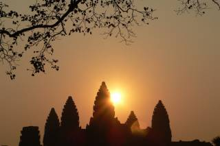 Sunrise and Sunset at Angkor Wat