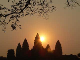 Sunrise and Sunset at Angkor Wat