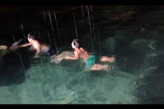 Swimming in the Moon Cave Pond