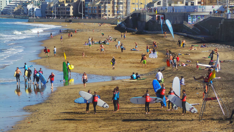 """""""Surf City"""" Las Palmas de Gran Canaria La Cicer Playa Las Canteras"""