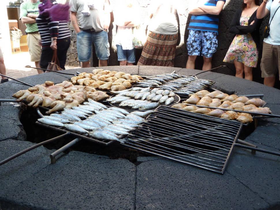 Volcano Grill on Lanzarote Island in Canary Islands - Best Season