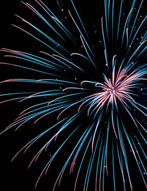 Captivating firework displays