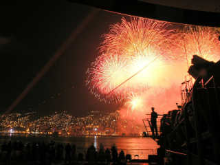 New Year Fireworks in Valparaiso