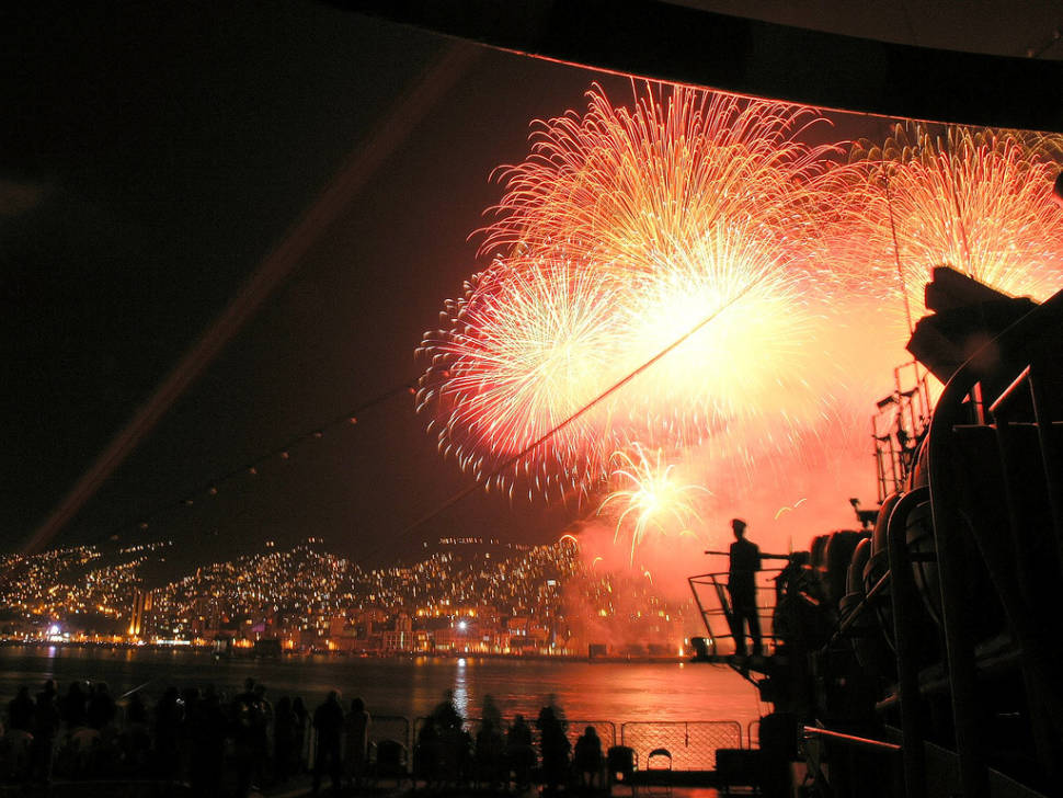 New Year Fireworks in Valparaiso in Chile - Best Time