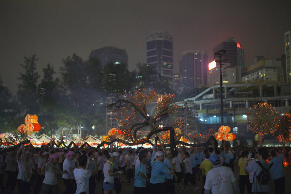 Incense Dragon, Mid-autumn festival in Hong Kong