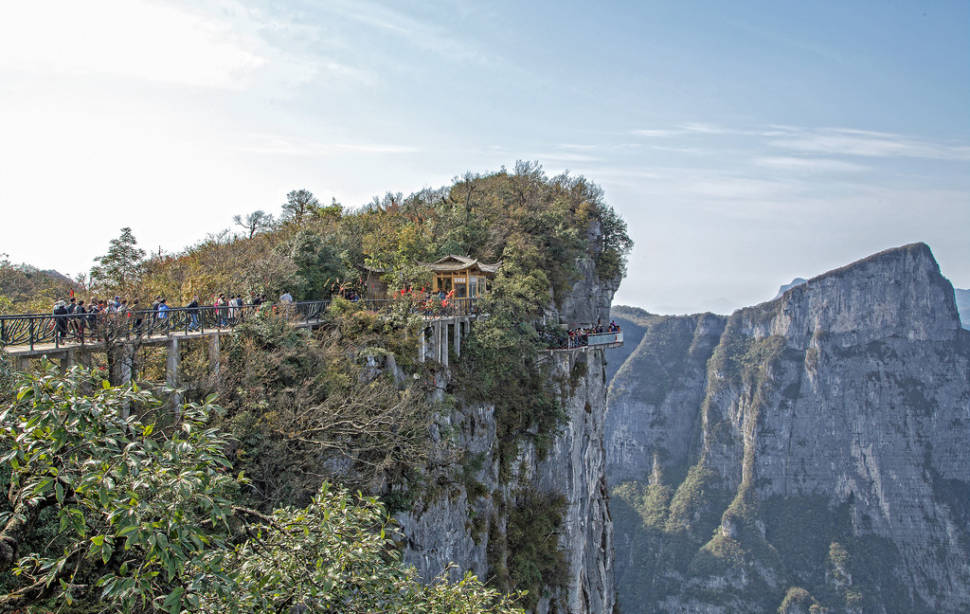 Best time for Glass Plank Road at Tianmen Mountain in China