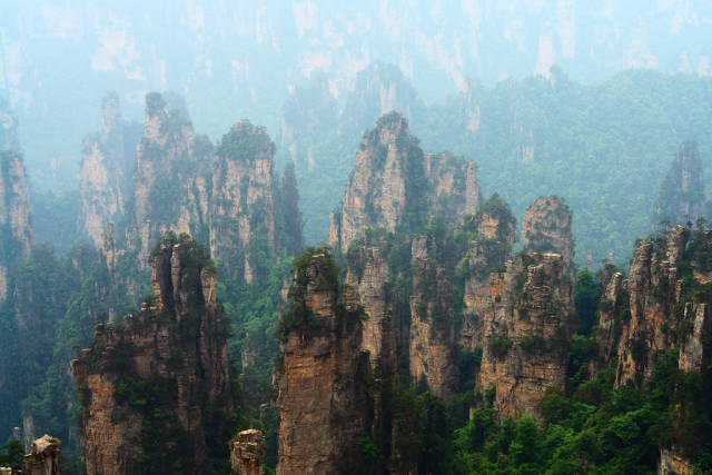 Best time to see Zhangjiajie National Forest Park in China