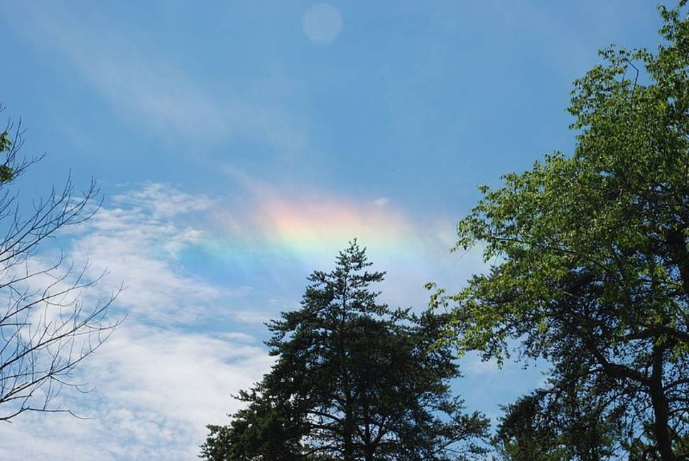 A circumhorizontal arc photographed in Hocking Hills, Ohio on June 30th, 2007