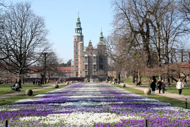 Best time to see Crocus Blooming at Rosenborg Castle in Copenhagen