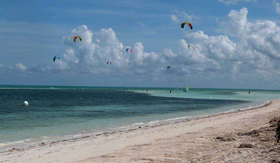 The paradise for kite-surfers