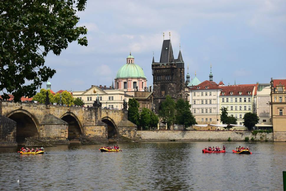 Rafting on the Vltava in Prague
