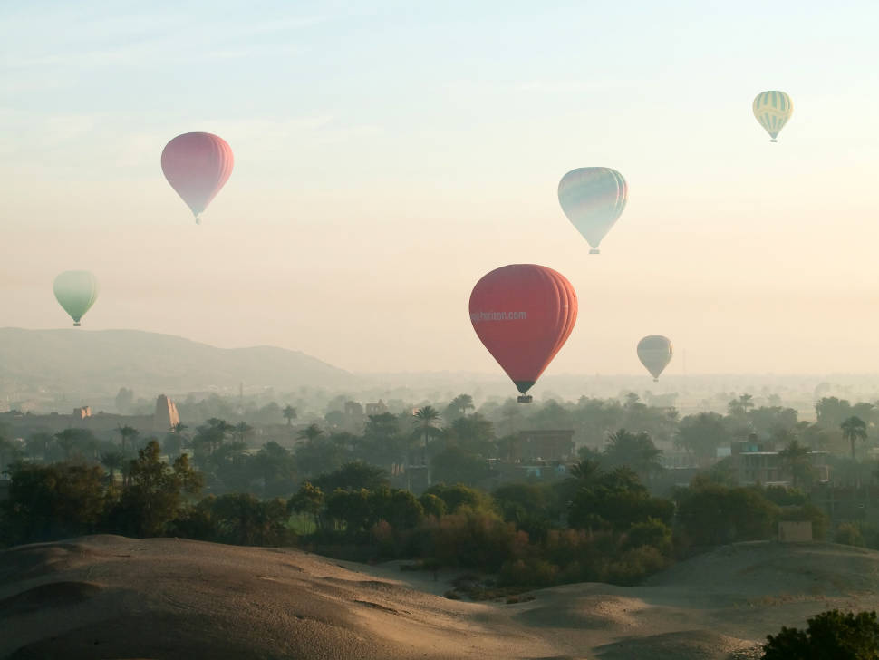 Best time for Hot Air Balloon Festival in Luxor in Egypt