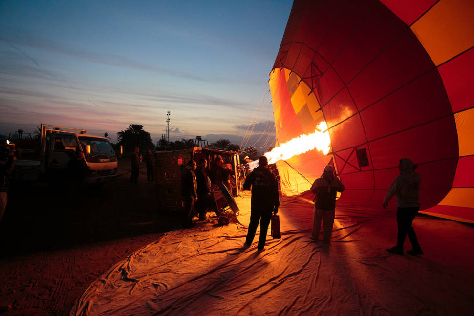 Best time for Hot Air Balloon Festival in Luxor