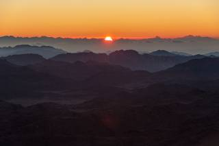 Sunrise or Sunset on Mount Sinai